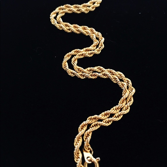 d726d6024ee0a NWOT 14K ITALIAN GOLD VERMEIL ROPE CHAIN